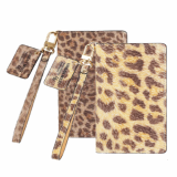CALF SKIN LEOPARD Italy Leather Cell Phone Case